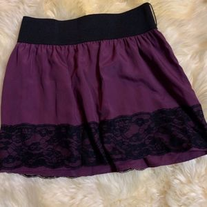 Lace Purple And Black Lace Skirt